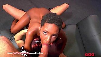 Young Ebony babe Zara Fucked Good - German Goo Girls