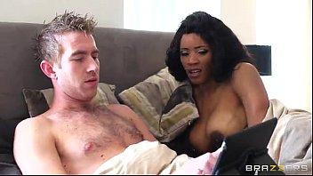Ebony fucked by white guy - Brazzers.com porn