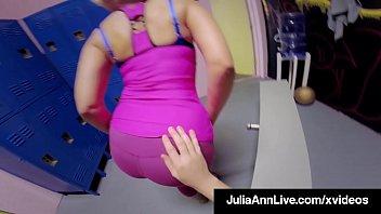 Sex Bomb Milf Julia Ann Pussy Fucks Young Stud In Gym!
