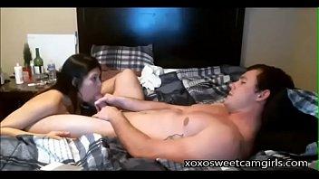 Brunette gives boyfriend a blowjob - part2@xoxosweetcamgirls.com