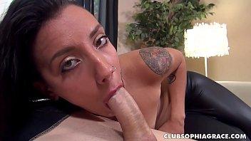 Sophia Grace Throat Fucked by Big Italian Cock
