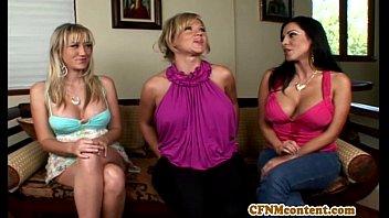 Cfnm femdom Nikki Sexx testing cocks
