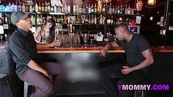 Beautiful MILF bartender prefers fat rod