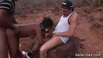 extreme african interracial threesome safari sex