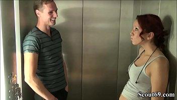 18yr old German Teen Seduce to Fuck by Stranger in Lift - 18jr Teeny Natalie fickt mit Fremden im Fahrstuhl vom Hotel