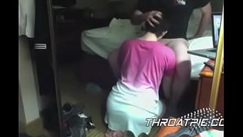 0016 Servicing her husband on her knees