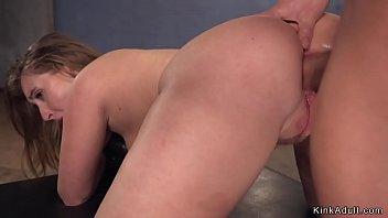 Sweet ass brunette anal banged bdsm