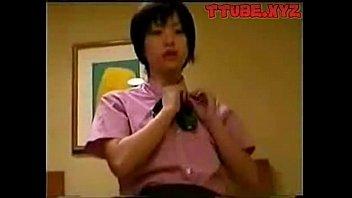 Japanese girl in working uniform