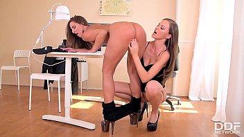 Lesbian hooker Amirah humiliated by dominant fetish slut Tina Kay