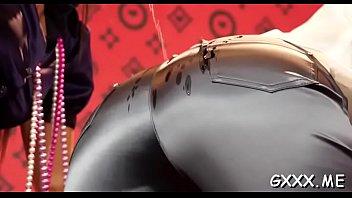 Elegant hottie enjoys big sexy-lesbians