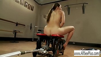 Riding a sex machine