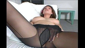 tease pantyhose Nylon stocking milf