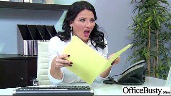(casey cumz) Big Round Tits Girl Enjoy Sex In Office clip-12
