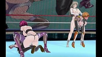 Taimanin Asagi and Sakura fucked brutally