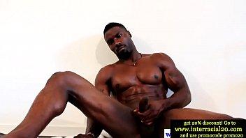 Black Stud Wanking His Big Pole