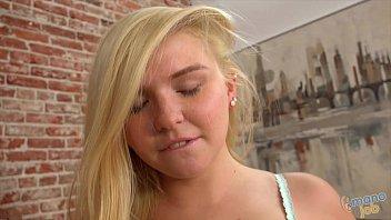 Blonde Melissa May Does Handjob