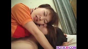 Hot minx Hikaru Hinata enjoying kissing and a hard fucking in bed