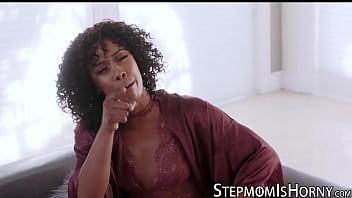 Ebony Misty Stone disciplines stepson with banging