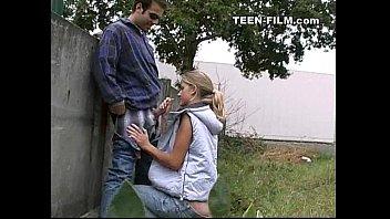 teen sucks stranger outdoor