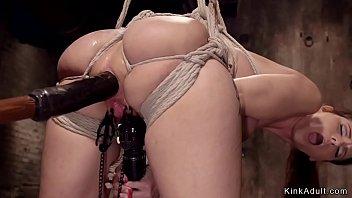 Huge tits Milf anal fucked in hogtie
