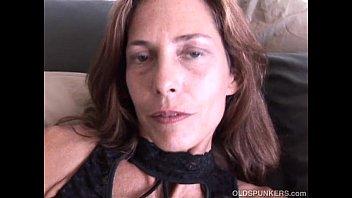 Super sexy slim old spunker masturbates &amp_ fucks the cameraman