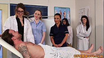 CFNM nurses cocksucking patients cock