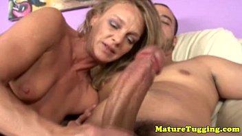 Mature tugging porn