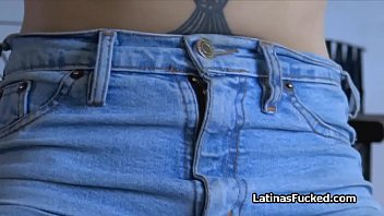 Beautiful amateur Latina fucked on sex tape