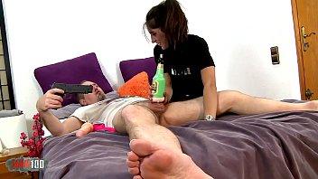 Skinny spanish whore Raquel Martin burtal anal fucking