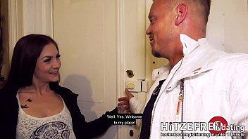 HITZEFREI.dating ► STREET-FUCK ◄ with GERMAN Brunette LULLU GUN
