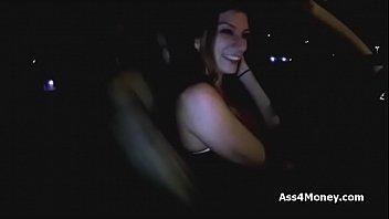 Big tit uber driver sucking my dick