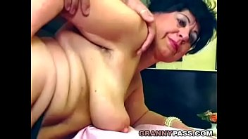 Beautiful granny gets fucked on the table Thumb