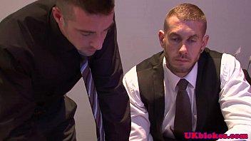 Muscular gay brit duo shagging at home