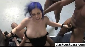 Big ass slut used by a pack of niggers