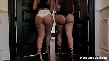 Big ass latinas sharing a big black cock - Lela Star, Rose Monroe and Rob Piper