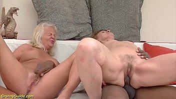 Rough interracial anal granny orgy