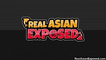 RealAsianExposed - Hot Babe Asa Akira goes to work on a big black cock