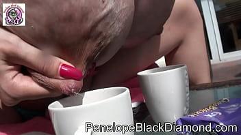 Penelope Black Diamond Outdoor footjob Piss Milk Dusche Preview