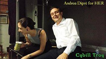 Mistress Cybill Troy squeezes Andrea Dipr&egrave_'_s balls