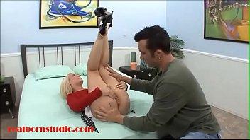 Realpornstudio.com big tit attention whore blond porn studio for first big cock