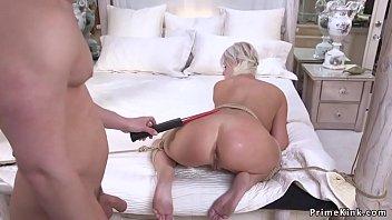 Huge tits Milf anal banged in rope bondage