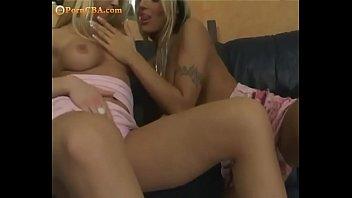 Barbie Girls playing vit dildos at home