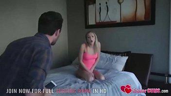 Step Sister Pranks Two Big Cocks -  SisterCUMS.com