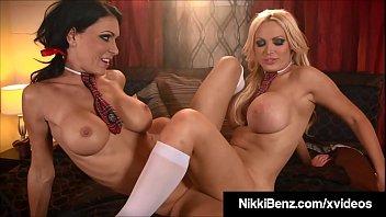 Sinning SchoolGirls Nikki Benz & Jessica Jaymes Fuck Priest!