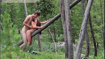 Русский любительский секс на природе
