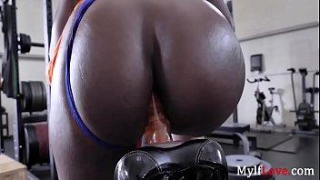Naughty Ebony MILF Loves RIDING For Cardio- Ana Foxx