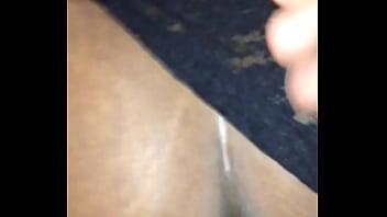 Gushy black pussy