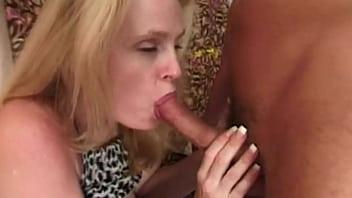 Horny blonde sucker