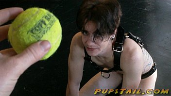 Mistress Lexi plays Fetch with Her naked pup - pupstail.com