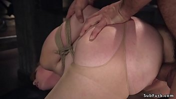 Big tits intern anal fucked in bondage